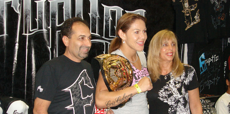Cris Cyborg at the Eruption Inc. Booth during IMMAE